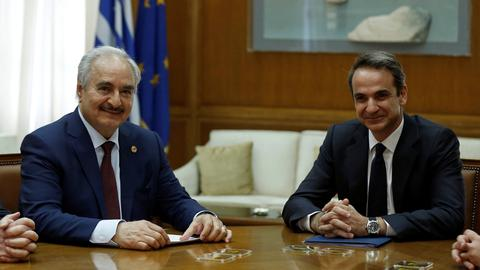 Is Greece asking Libya's Haftar to do its bidding at the Berlin summit?
