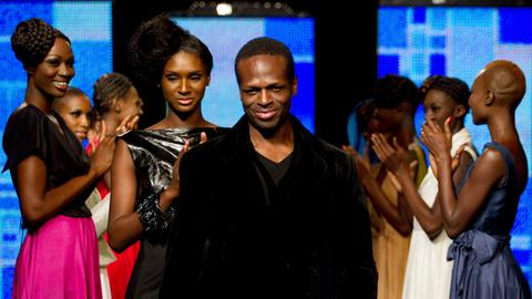Designer Ayissi is first black African at fashion's top table