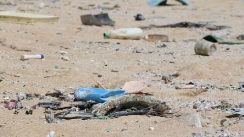 Remote South Pacific island weighed under with trash