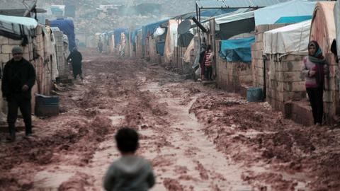 In pictures: Harsh winter cripples camps near Idlib, Syria