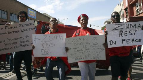Is South Africa's ruling party headed for a split?