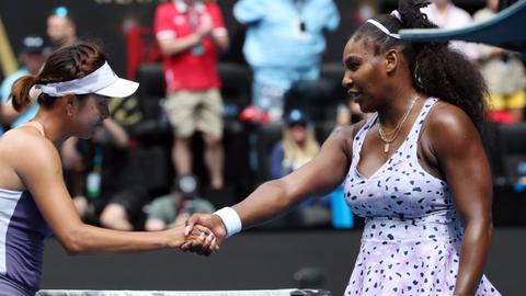 Williams heartbreak as Wang shatters Grand Slam record bid
