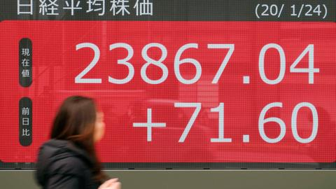 Global stocks mixed as Chinese virus spreads, oil prices drop