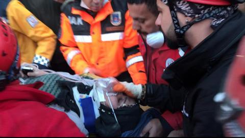 Dozens of quake survivors rescued from rubble in eastern Turkey
