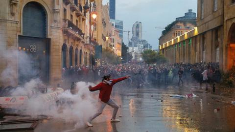 Protesters hit Beirut streets to mark 100 days of demos