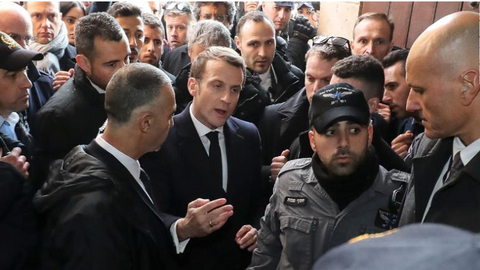 Macron gets a small taste of what Israeli occupation feels like
