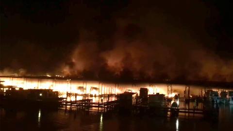 Eight dead in US boat dock blaze - fire chief