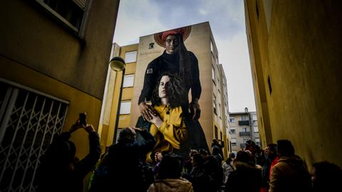 Street art creates a splash of new life for Lisbon barrio