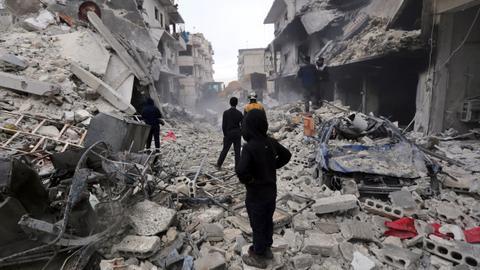 Air strikes in northwest Syria kill 9 civilians