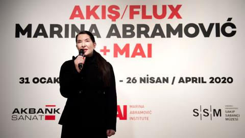 The diva of performance art Marina Abramovic in Istanbul