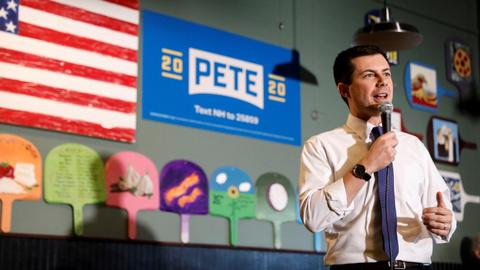 Buttigieg takes lead in first Iowa results after presidential caucus chaos