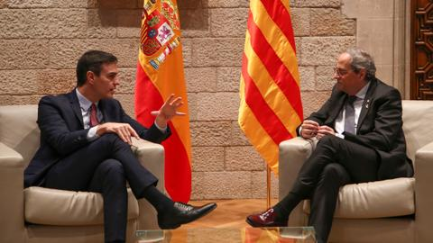 Spain's govt sets timing of talks with Catalonia leaders