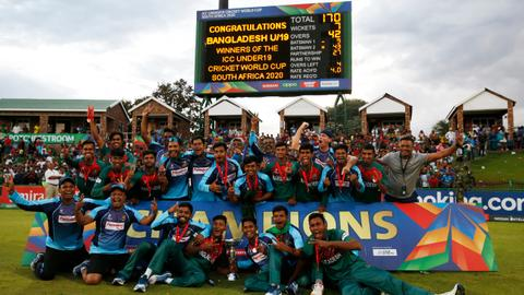 Cricket: Bangladesh beat India to win under-19 World Cup