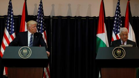 Trump pledges to help end Palestinian-Israeli conflict