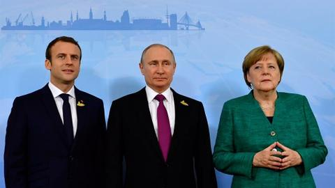 Merkel, Macron urge Putin to stop attacks in Syria's Idlib