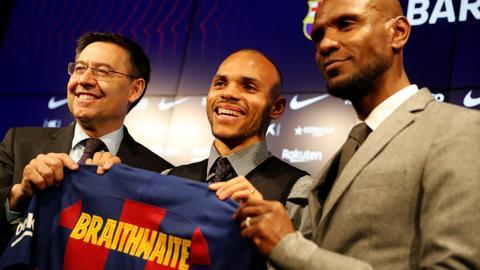 Barcelona allowed to sign forward Braithwaite outside window