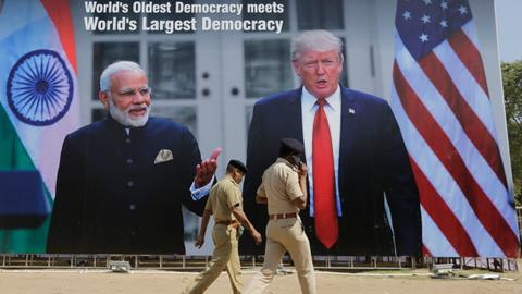 India erects wall, raises anti-monkey force, plants trees for Trump visit