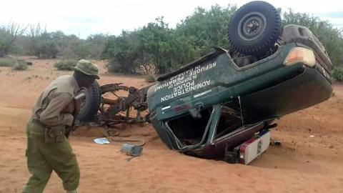 Five Kenyan police officers killed in roadside bomb blast