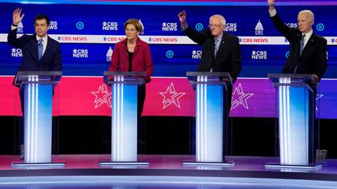 Democrats target Sanders in US presidential debate