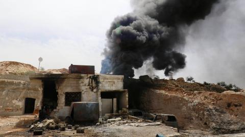 US-led air strikes kill more than 100 in Syria, SOHR says