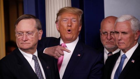 Trump says US coronavirus spread 'not inevitable,' mulls new travel bans