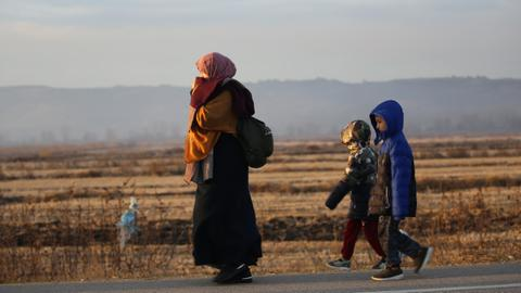 In pictures: Syrian refugees on the way to Europe