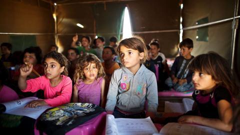 Syrian children learn survival skills