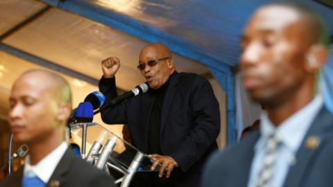 South Africa's Zuma faces no confidence vote in ANC