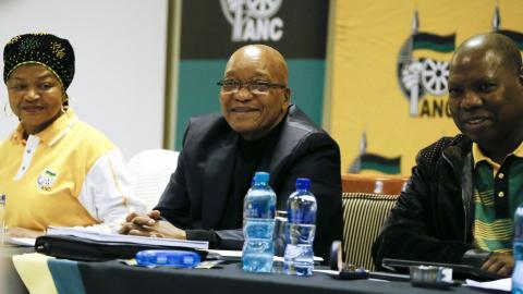 S Africa's Zuma survives ANC no confidence vote