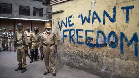 No, the Kashmir conflict is not experiencing an ideological shift