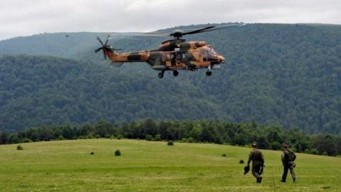 Turkish military helicopter crashes in Sirnak province