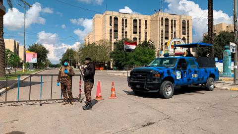 Iraqi military says two rockets hit Baghdad's Green Zone