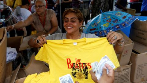 Cubans rock at concert marking 50 years of Beatles