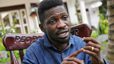 Uganda's Bobi Wine sings against virus, criticises leaders