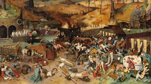 How did Ottoman society deal with the plague?
