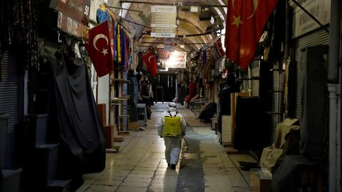 In Pictures: Turkey's streets go silent as government tackles pandemic
