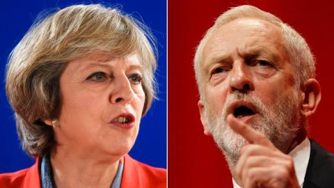 UK's May and Corbyn questioned by public on TV show