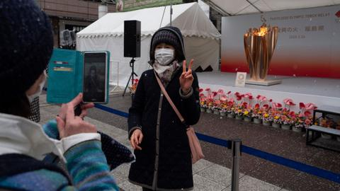 Olympic flame to stay a month in Fukushima, next stop uncertain