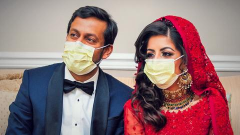 Two young American doctors spend honeymoon fighting coronavirus
