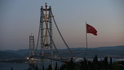 Turkish leaders visit new Izmit Bay Bridge, announce opening date