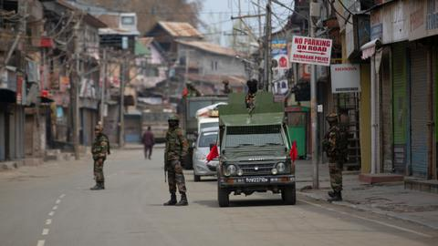 Three Indian soldiers, nine suspected rebels killed in Kashmir fighting