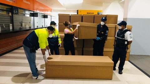 Ecuador's Guayaquil city runs out of coffins as Covid-19 deaths soar