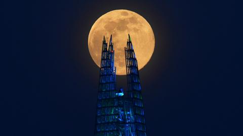 In pictures: Largest supermoon of 2020 rises on a world battling Covid-19