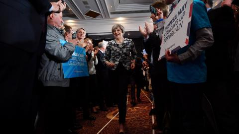 On UK's election eve, May tries to put focus back on Brexit