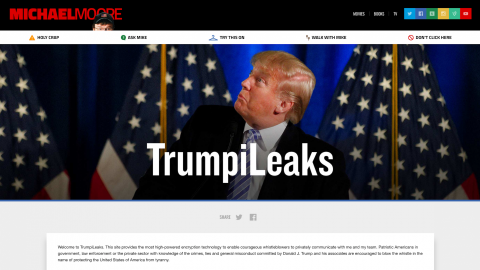 Michael Moore launches website for Trump whistleblowers