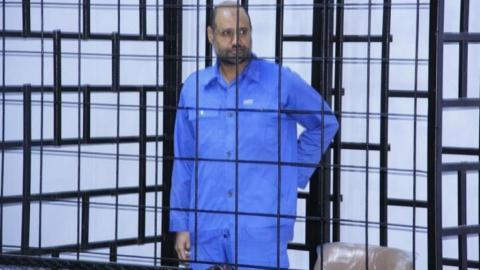 Libyan group says it has freed Gaddafi's son