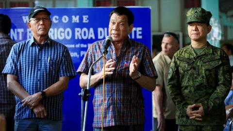 Philippine President Duterte not aware of US support in Marawi