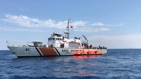 Turkish coast guard rescues 72 asylum seekers from Aegean Sea