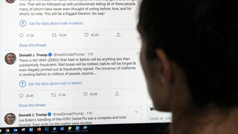 In a first, Twitter adds fact-check warnings to Trump tweets