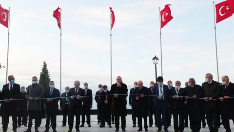 Erdogan opens island to mark first-ever military coup in Turkey